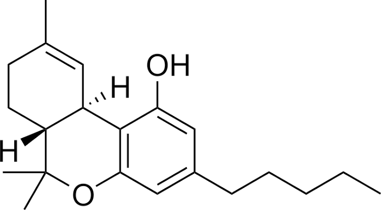 The THC molecule