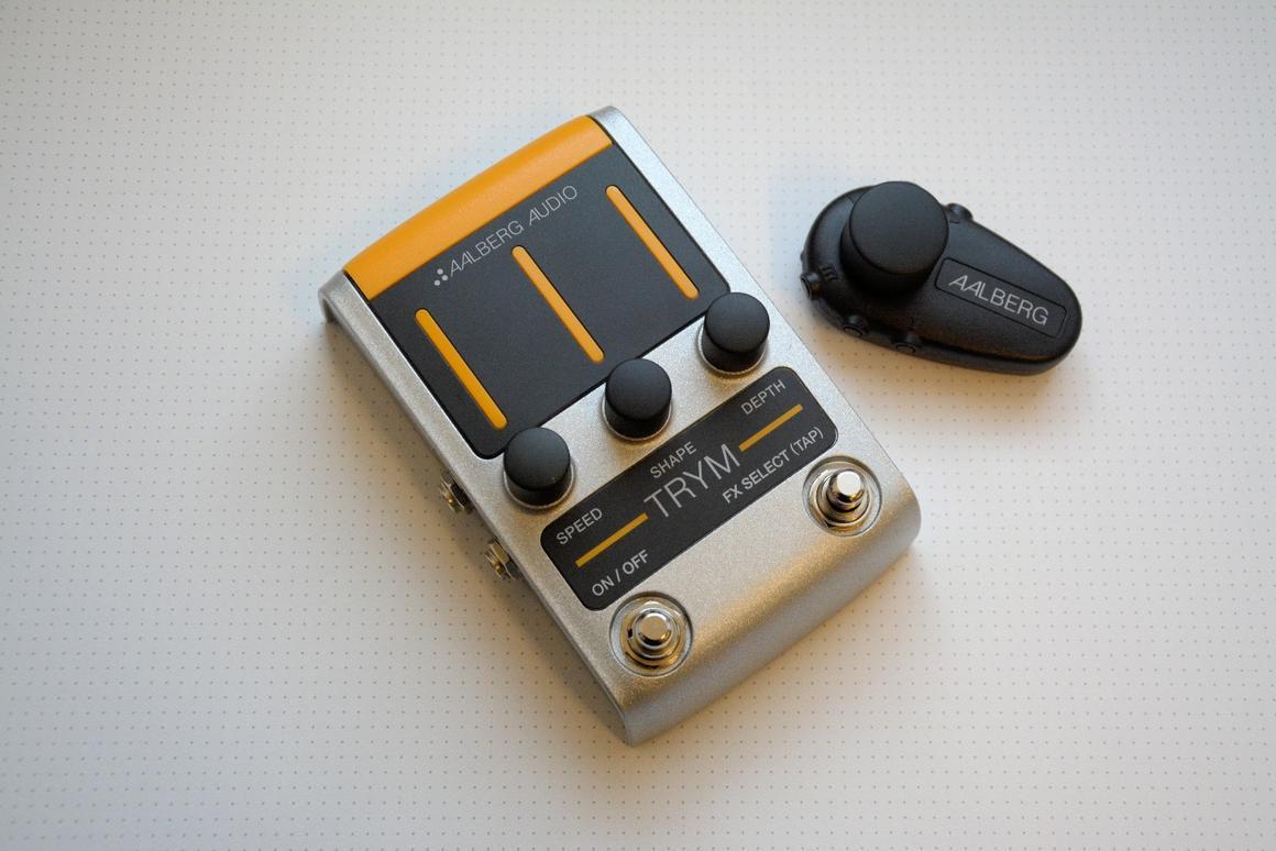 The Trym tremolo floor stomp and Aero wireless control unit from Aalberg Audio