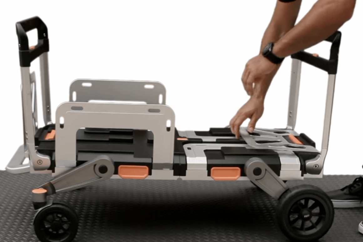 The Erovr transforms to provide multiple ways of wheeling gear around