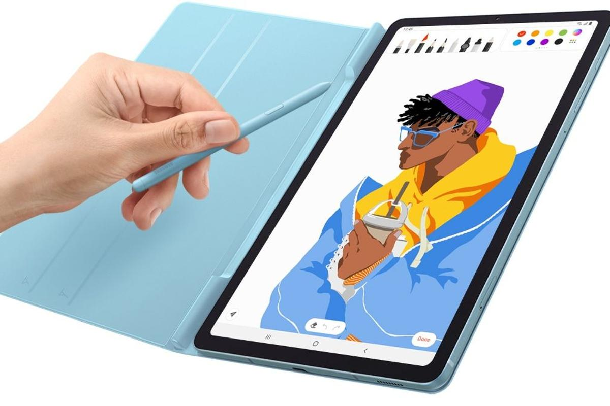 The new S Pen that comes with the Galaxy Tab S6 Lite sports a finer tip for greater precision
