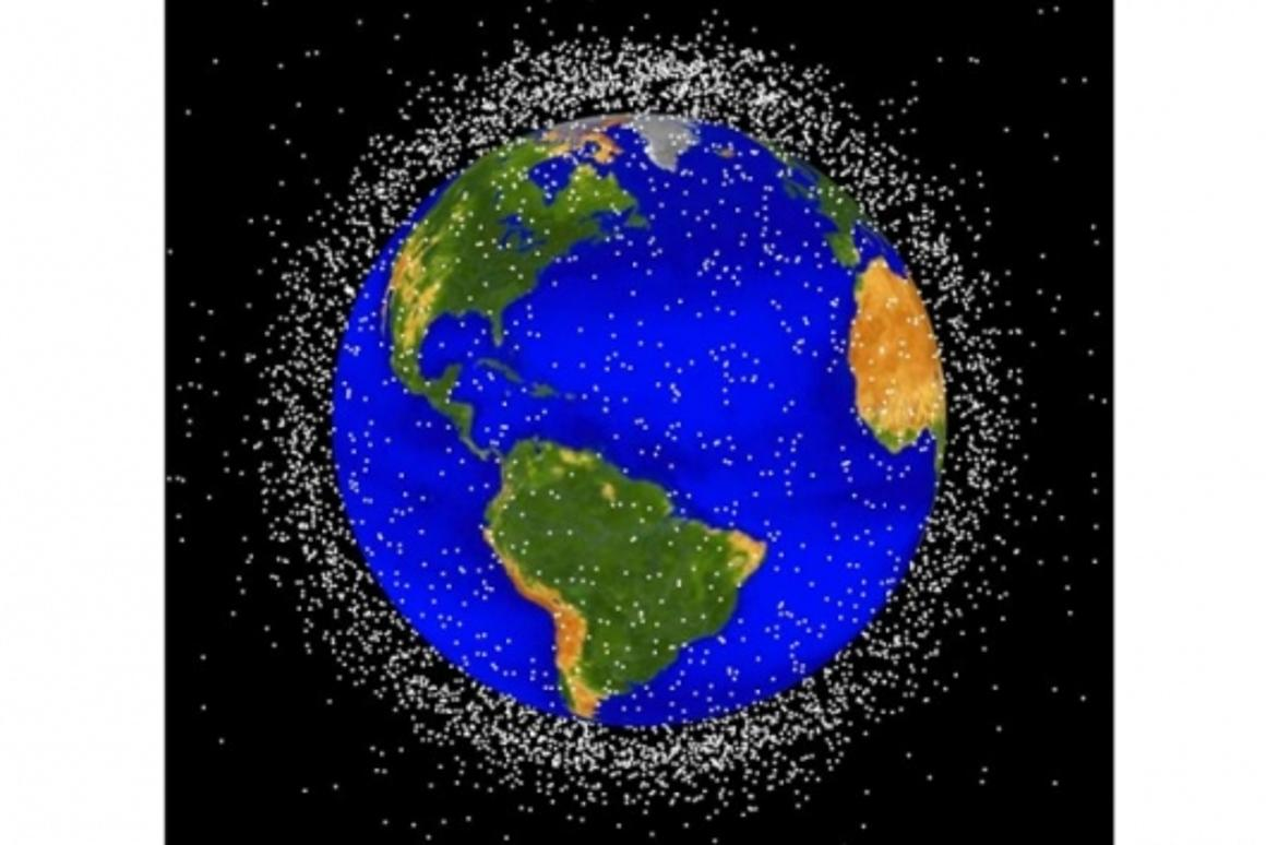 It's busier up there than it looks. Concentration of orbital debris in low Earth orbit within 2,000km of earth's surfaceImage: NASA Orbital Debris Program Office