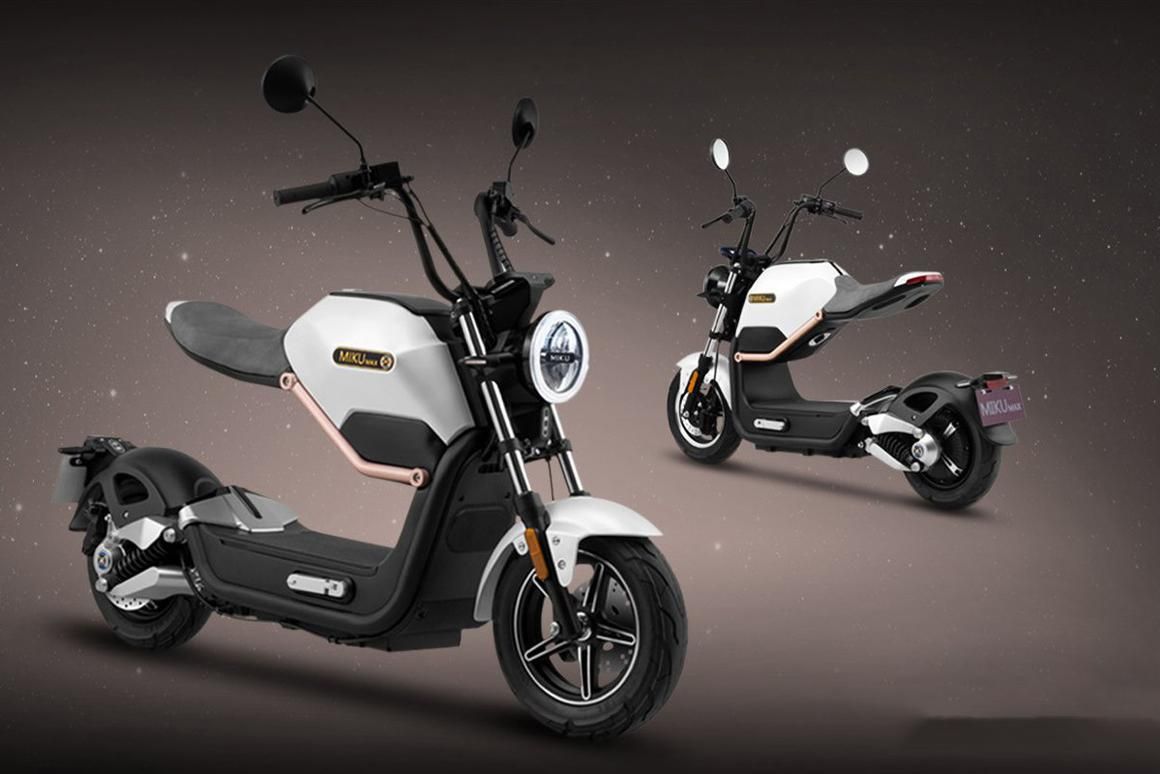 The Miku Max: wacky scootercycle thingy with a 60 km range