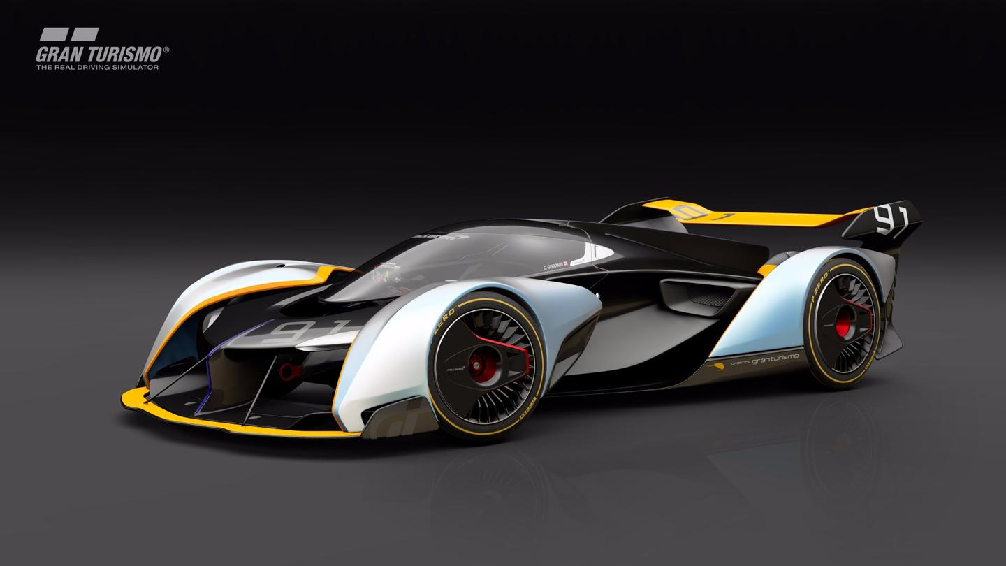 The VisionGranTurismo is powered by a hybrid V8/electric setup