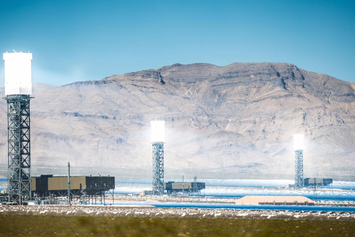 Concentrated solar thermal power plants, such as this one in the California Mojave Desert, could soon form a part of the smart grid thanks to a system developed at OSU