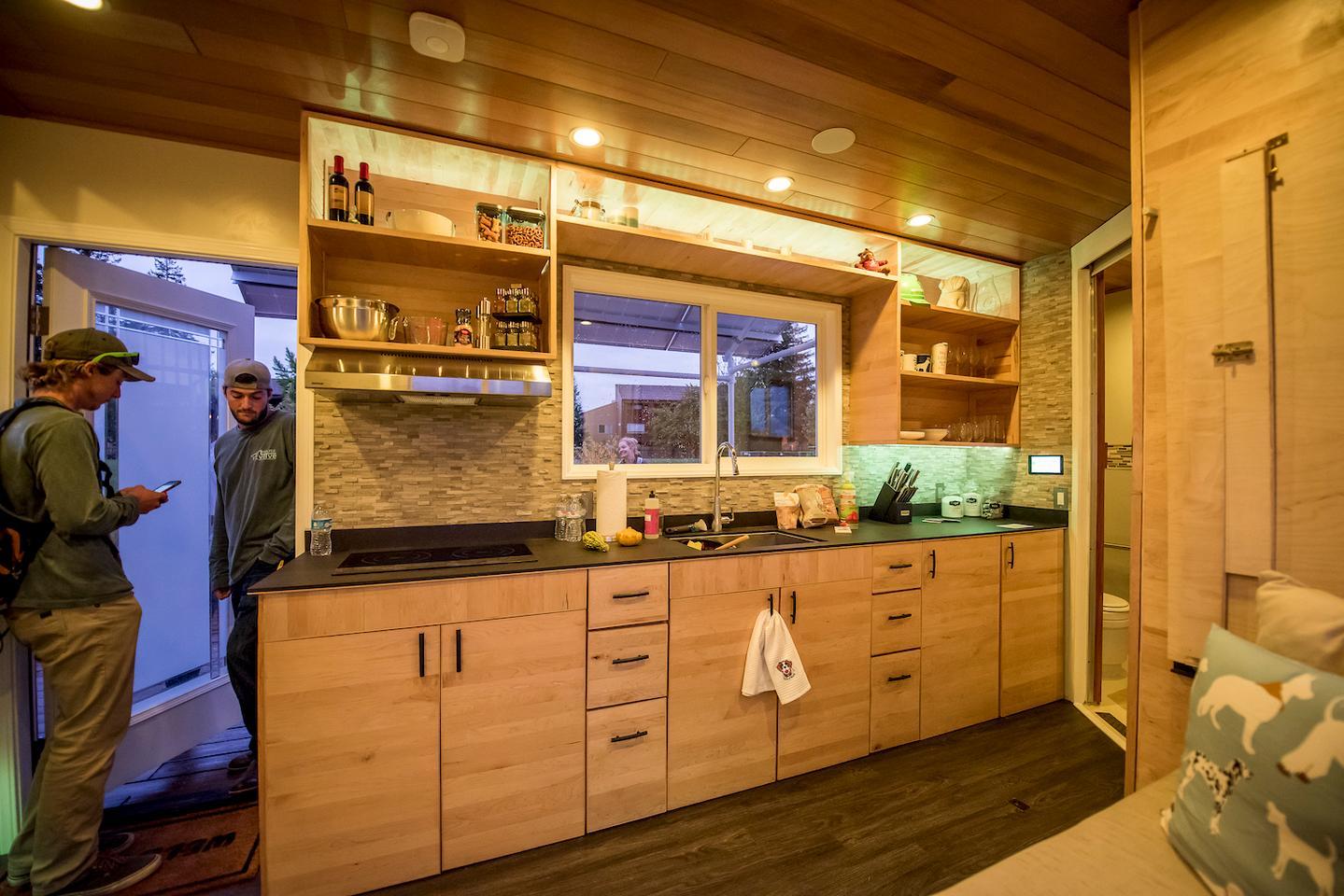 The kitchen inside the Revolve House