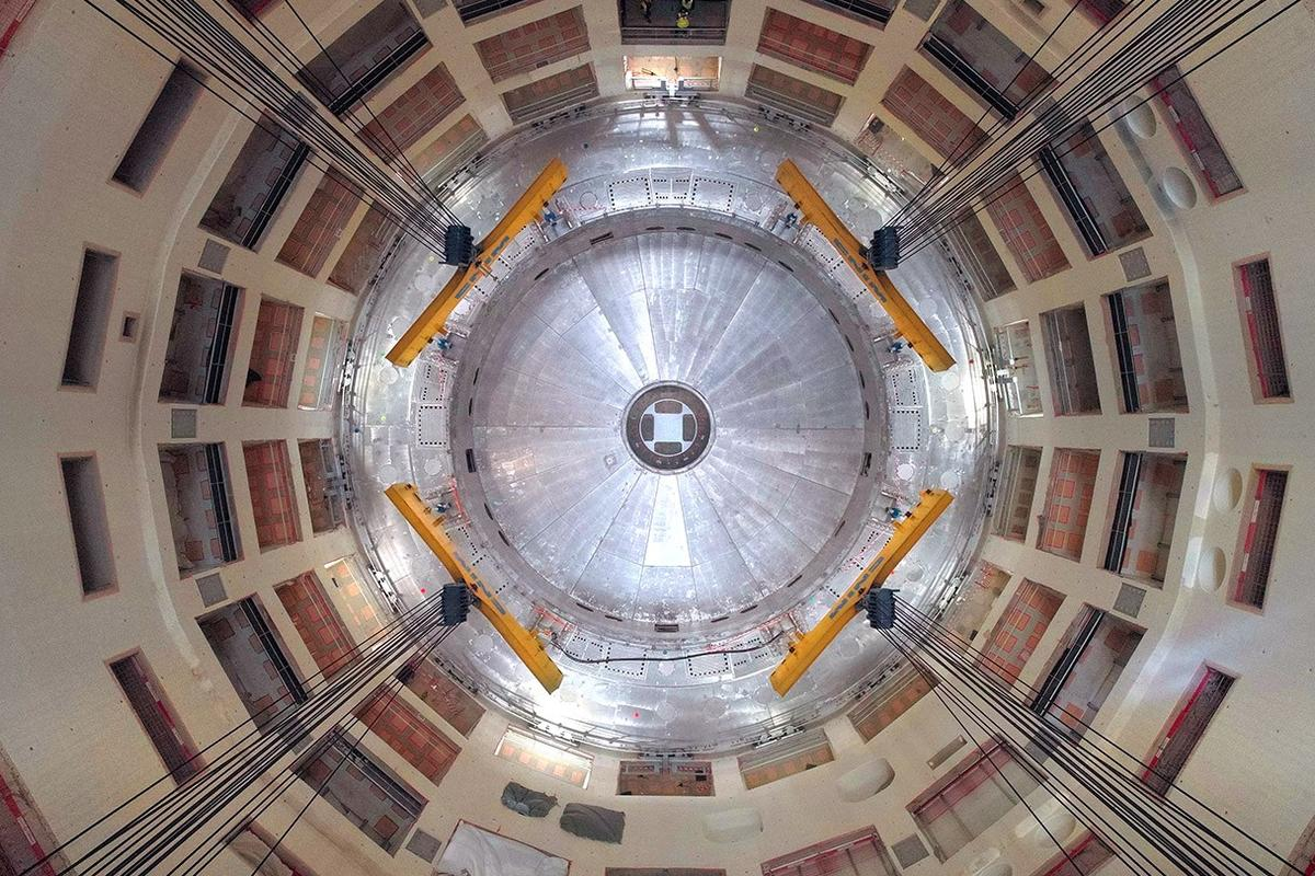 A look inside the pit of the ITER tokamak reactor