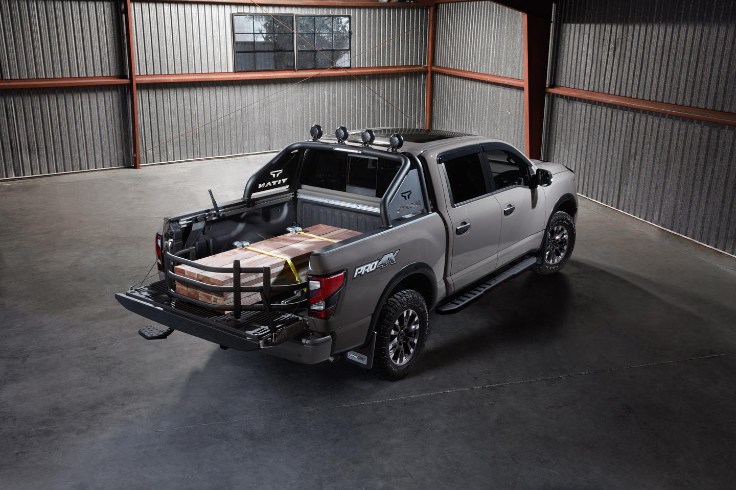 This fully-outfitted Nissan Titan shows what is available for customers at point of sale as add-ons for the pickup truck