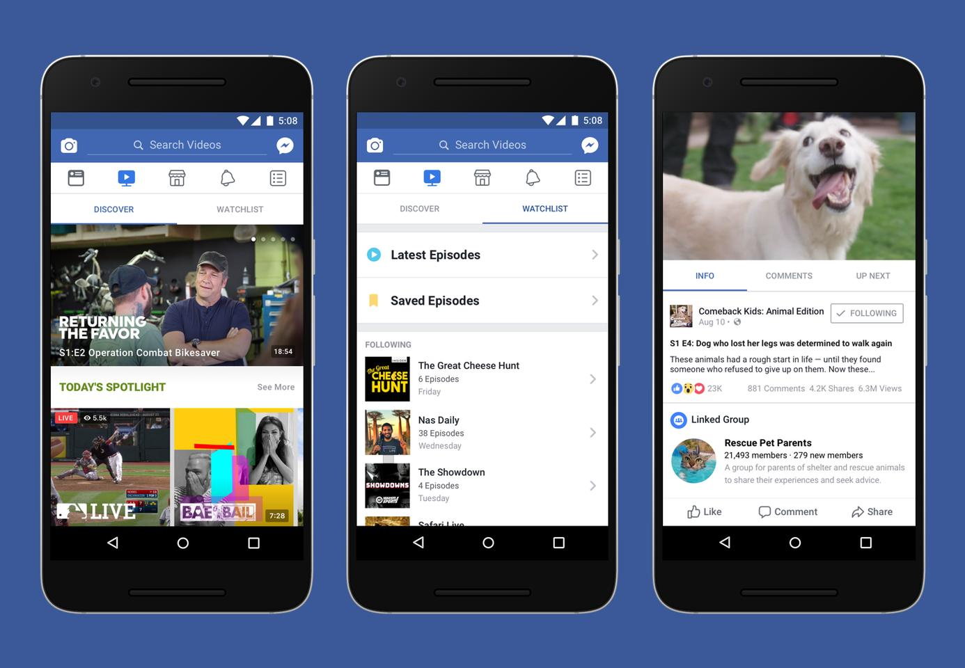 Facebook isfinancing a number of originals to get the ball rolling on its Watch platform