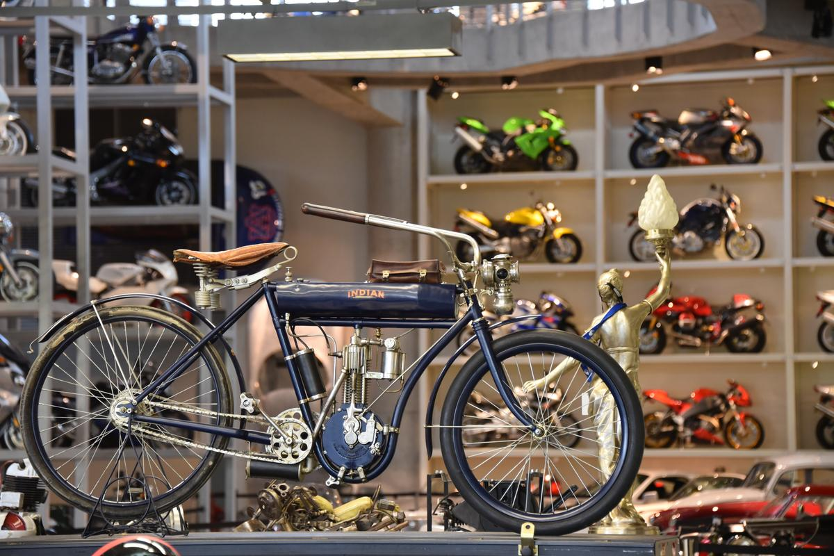 This Indian single resides in the workshop of the gargantuan Barber Museum