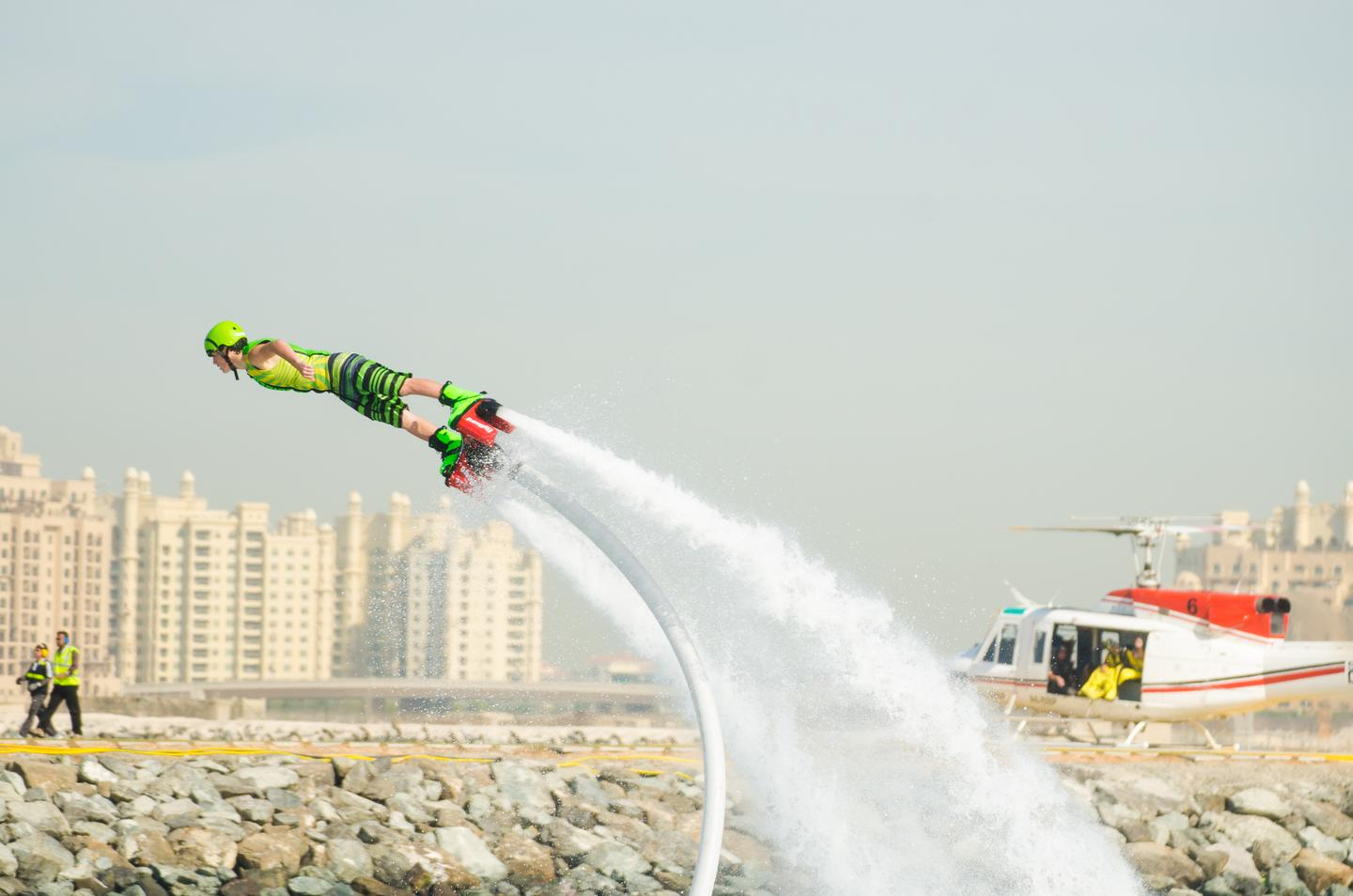 15-year-old Pro Category contender Hunter Verlander at the Flyboard World Cup 2014 held in Dubai, December, 2014 (Photo: Liam McKenna)