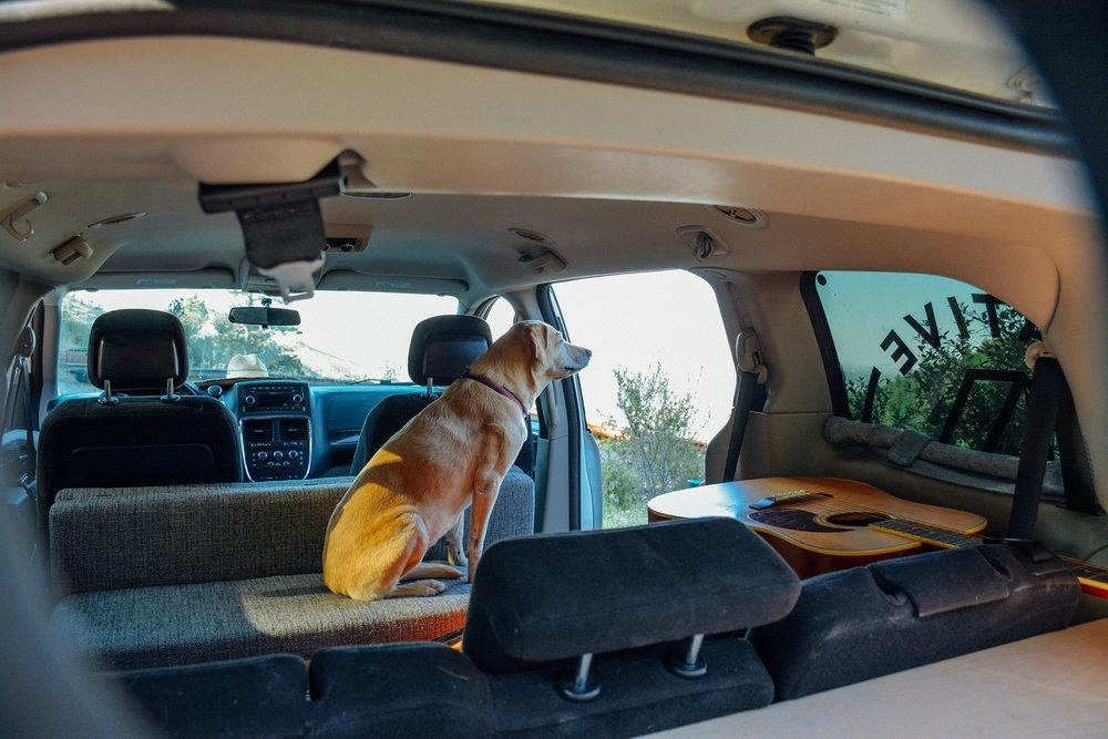 Contravans Minivan Camper System includes a convertible dinette with two benches