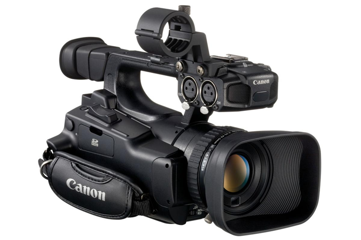 The Canon XF100 camcorder