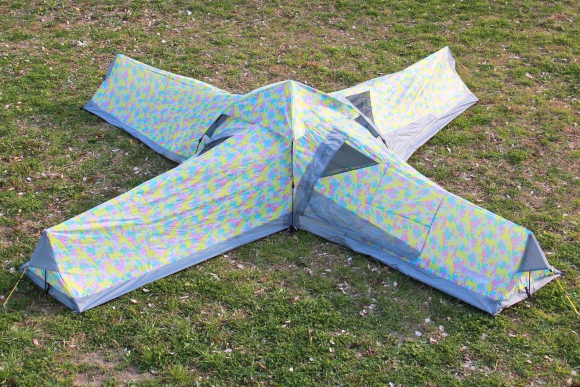 The Crazy X tent is made for sociable campers