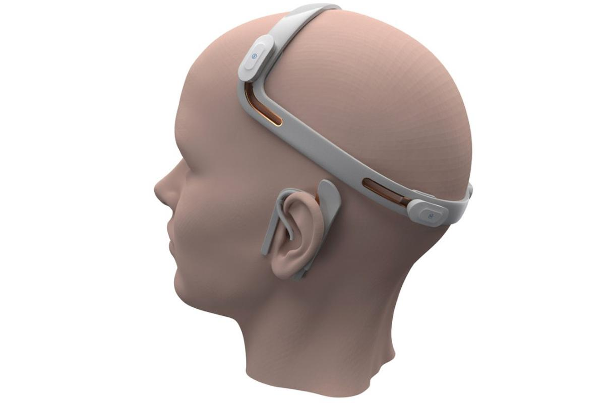 A rendering of the current mEEGaHStim headset