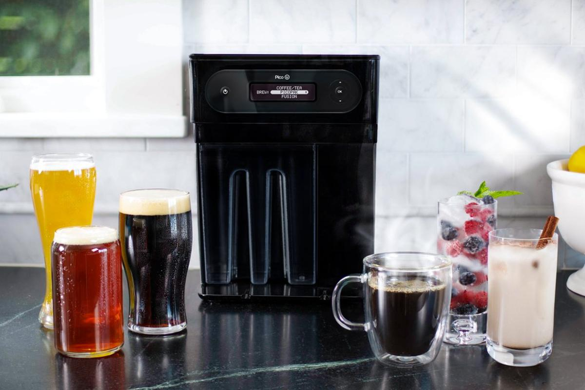 The newest household brewing device from PicoBrew can handle beer, coffee, tea and fusion drinks like kombucha