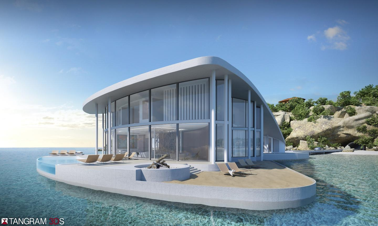 The aptly-named Sting Ray will comprise concrete and metal panels and generous glazing throughout