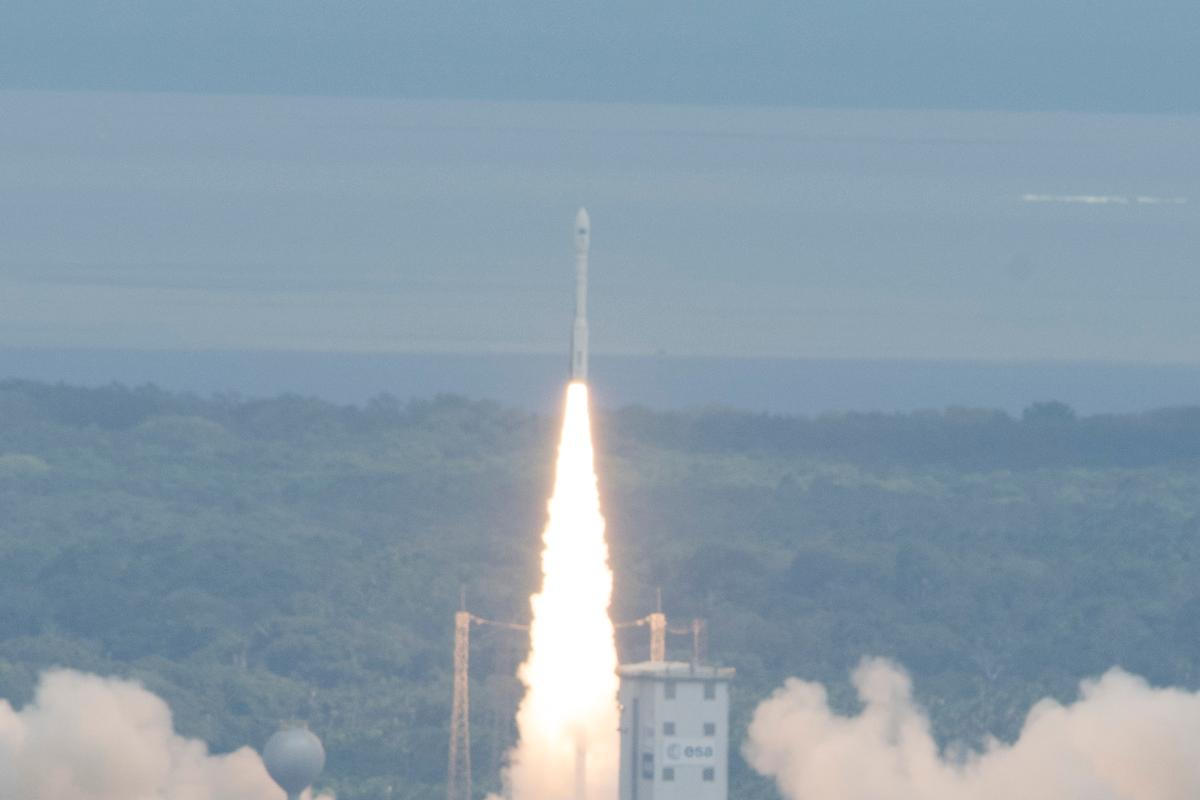 IXV lifting off atop its Vega launch vehicle (Photo: ESA–S. Corvaja, 2015)