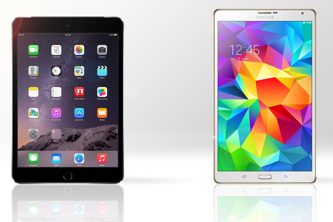 Gizmag compares the features and specs of the iPad mini 3 and Samsung Galaxy Tab S 8.4
