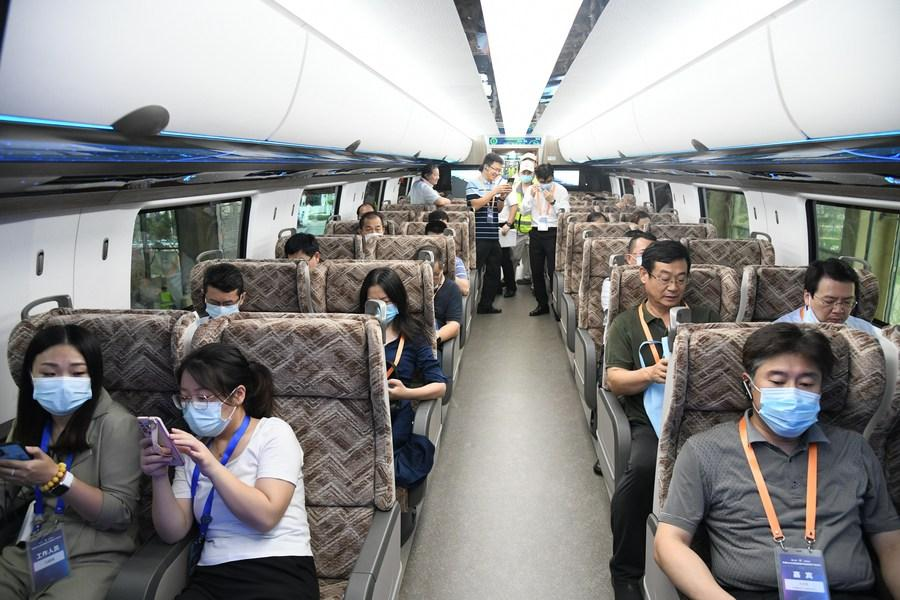 Each car will seat up to 100 passengers, depending on configuration