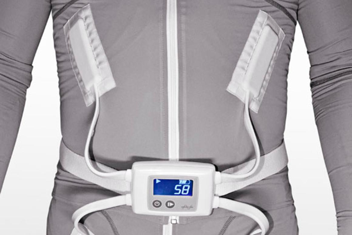 The Mollii garment helps keep muscle spasms and tension under control
