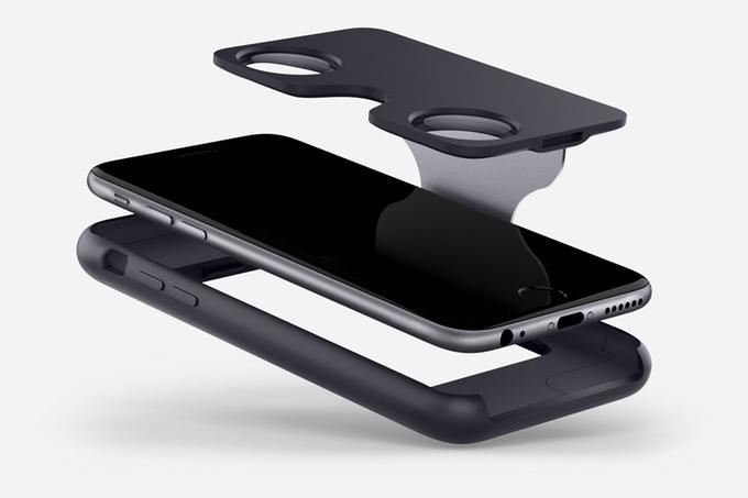 The Figment VR's flip mechanism