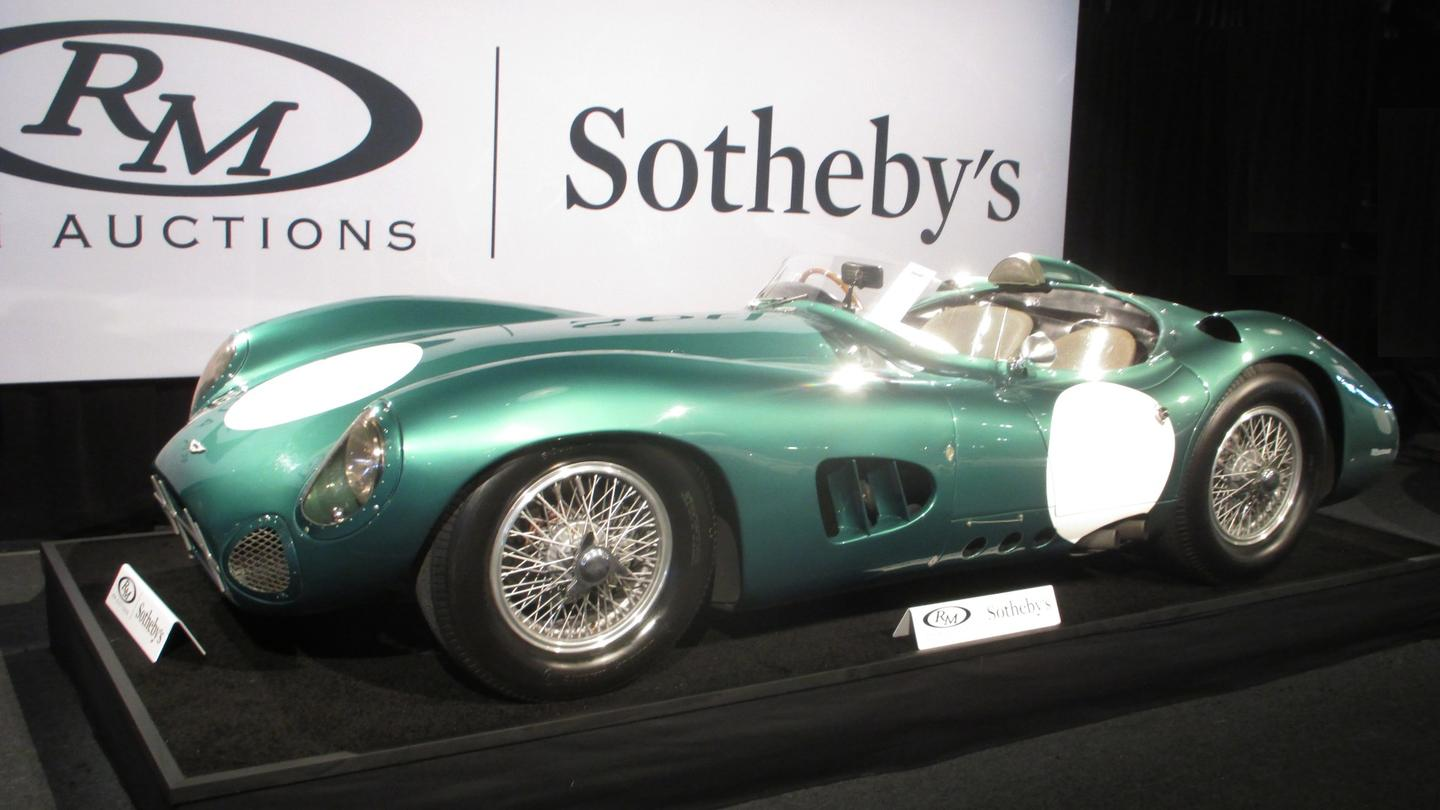 """The firstof just five DBR1 cars built.The RM Sotheby'spress releasecalled it """"the most important Aston Martin ever produced."""" Only five were made, and between them they won the24 Hour of Le Mansand theWorld Sportscar Championshipin 1959. The Aston Martin DBR1 is now the most expensive British car ever sold at auction. See ourextensive feature on this car."""