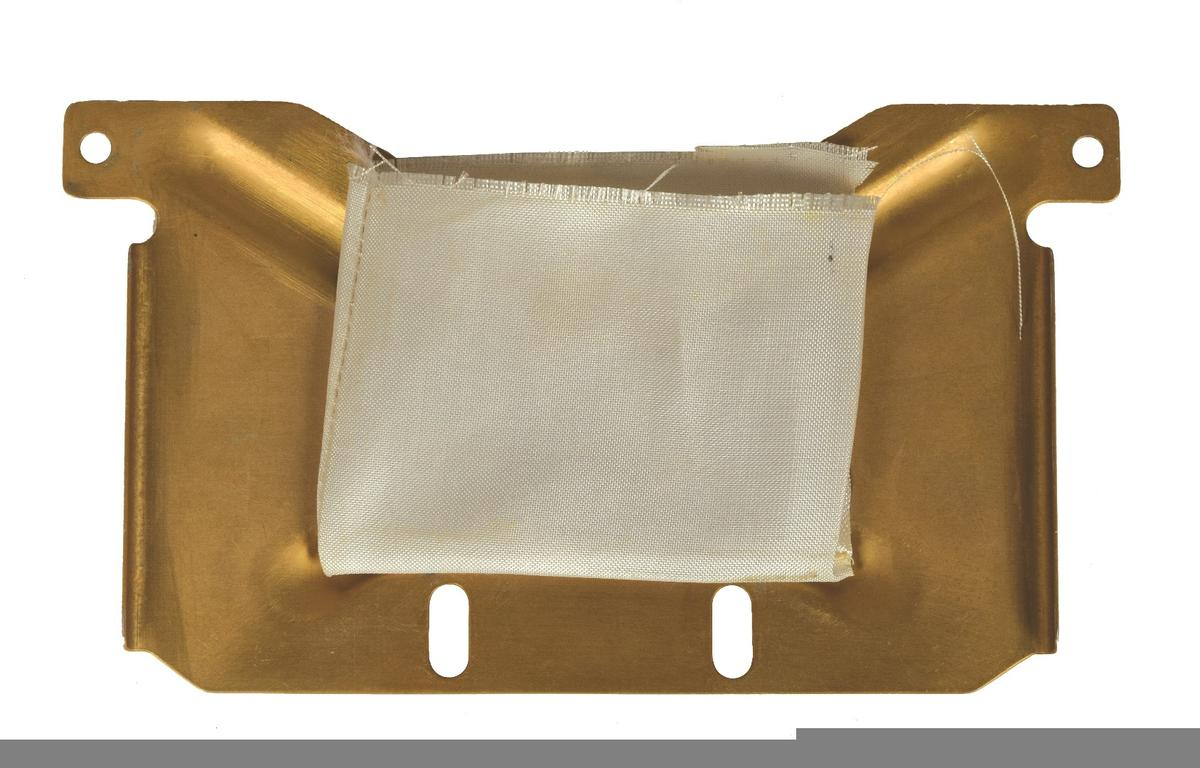 The secret pouch that contained US flags and was carried unknowingly by Commander Scott on Apollo 15