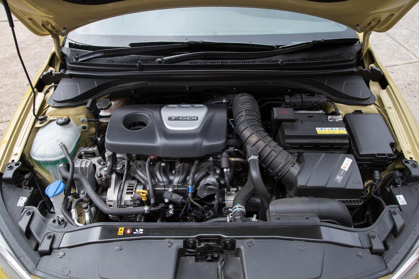 The engine in the Elantra SR Turbo makes 150 kW