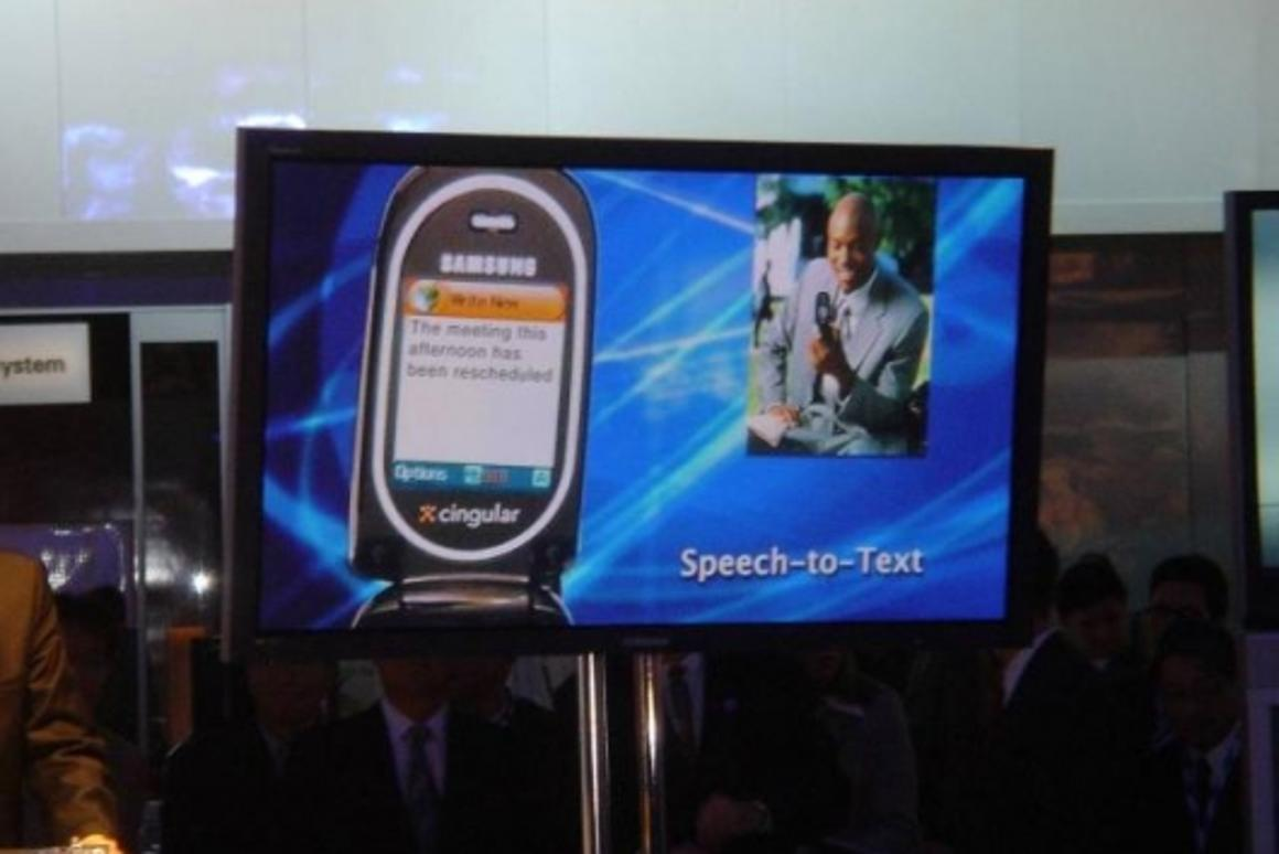 Samsung debuts mobile phone with Speech-to-Text Capabilities