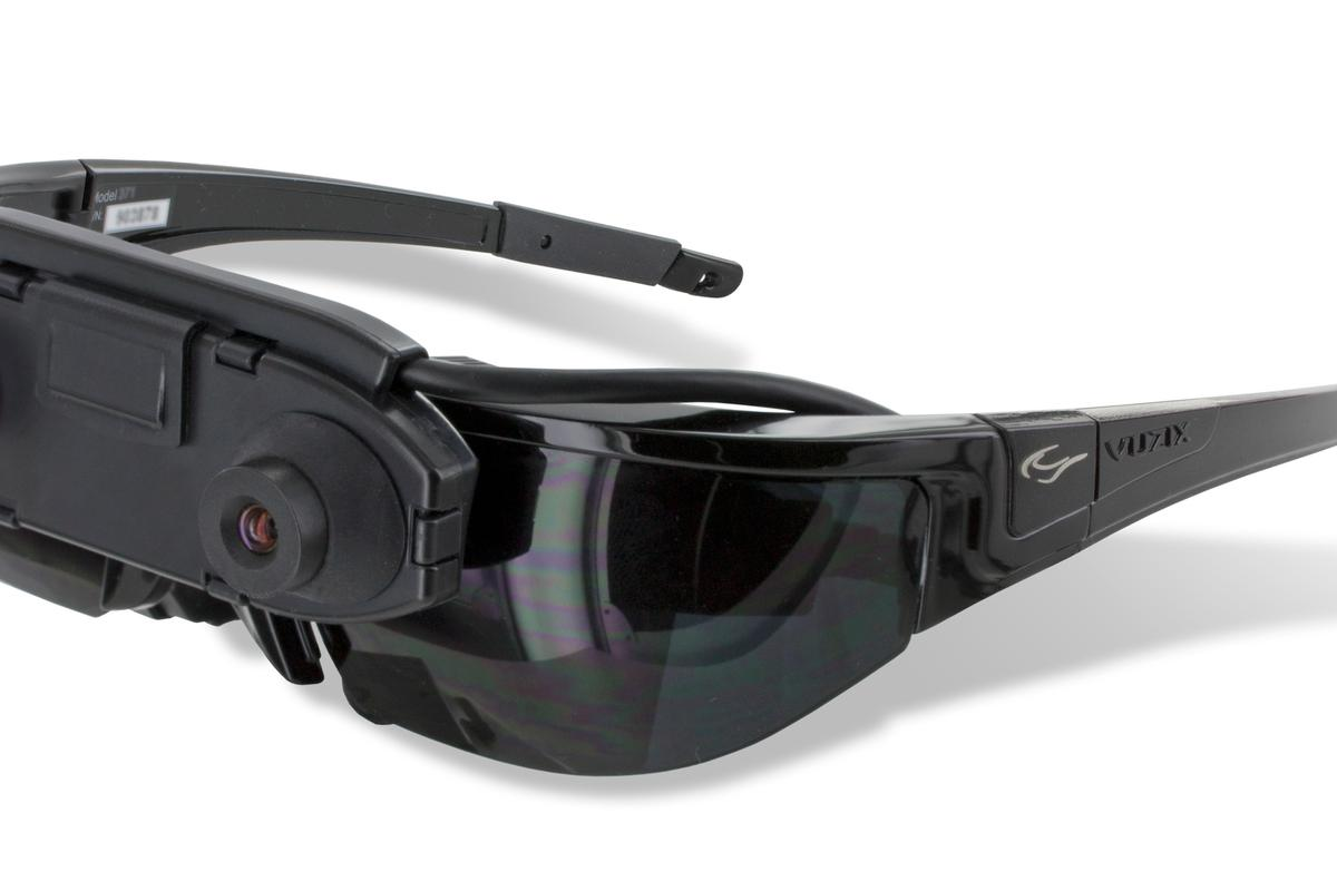 Vuzix's Wrap 1200AR see-through Augmented Reality glasses, featuring two independent stereoscopic cameras