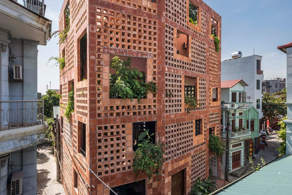 Bat Trang House is part of VTN Architects' ongoing effort to increase the amount of greenery in inner-city Vietnam