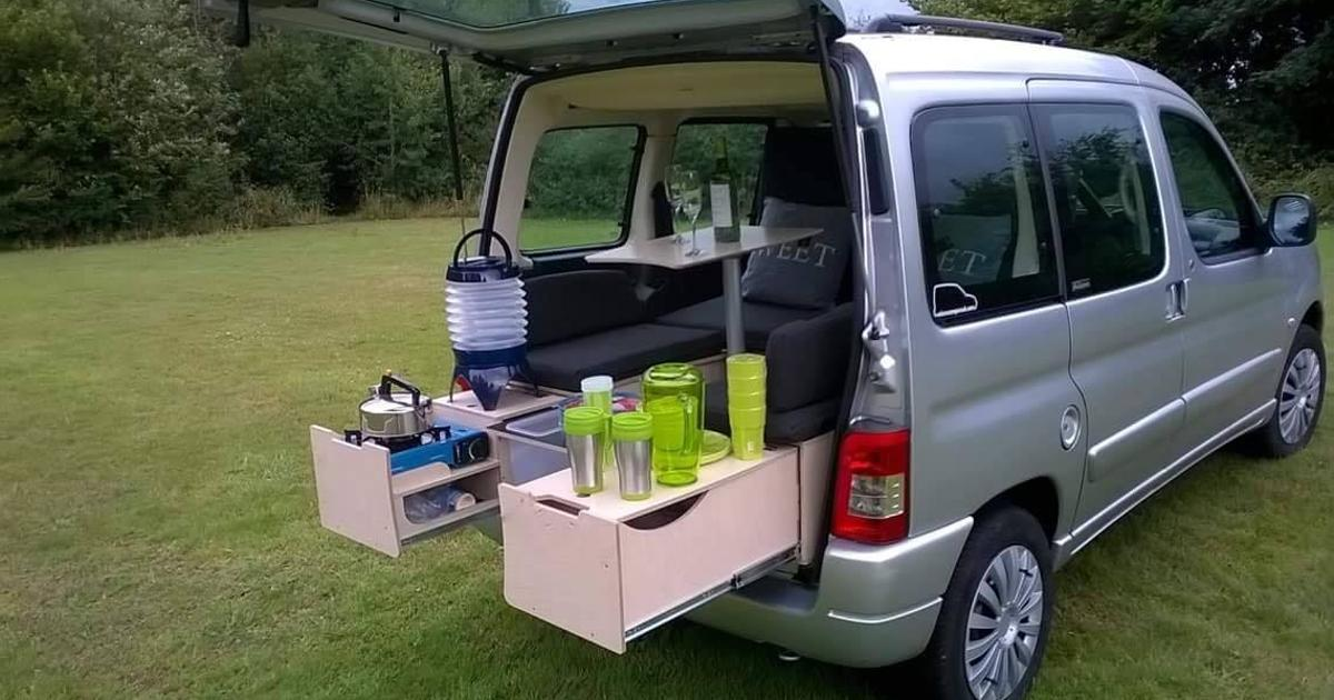 Campal all-in-one camper box creates a complete mini-campervan for $1,400