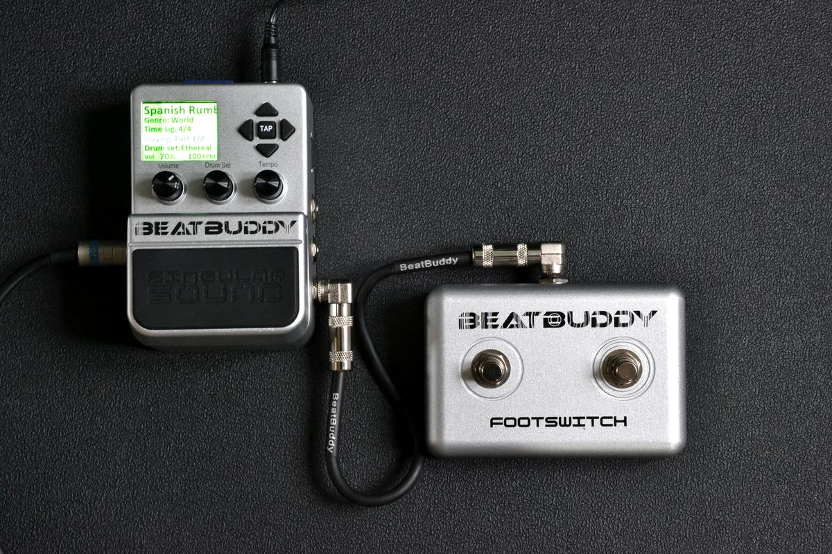 The BeatBuddy with its footswitch (Photo: Paul Ridden/Gizmag)