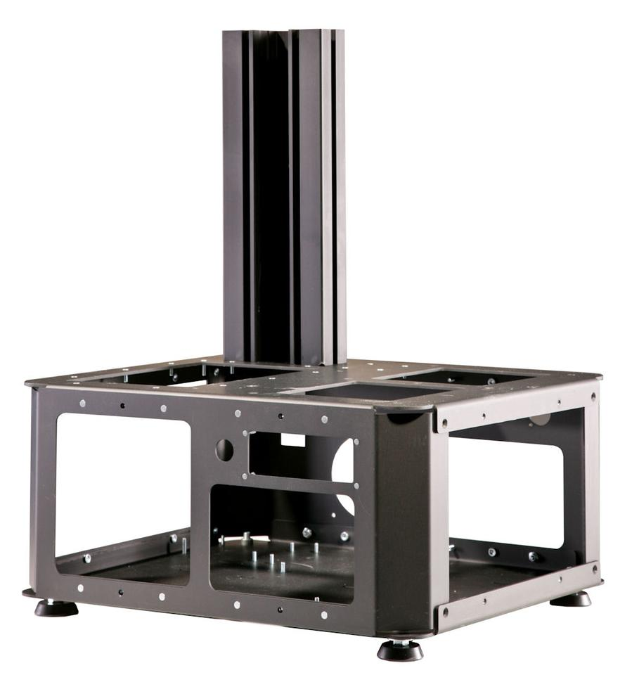 The 3DLPrinter is made out of anodized aluminum