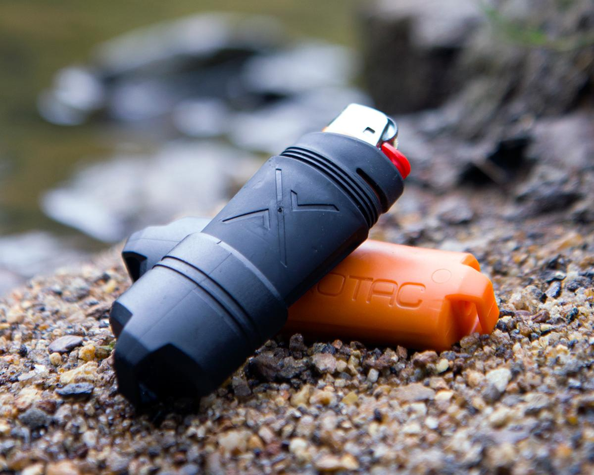 The Firesleeve is a floating waterproof rubber case for the Bic lighter