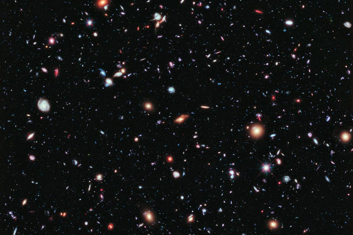 Astronomers have assembled a new, improved portrait of our deepest-ever view of the Universe (Image: NASA)