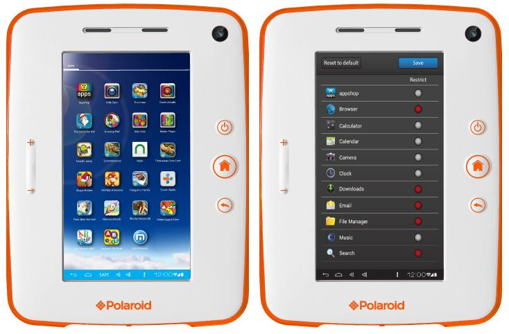 The Polaroid Kids Tablet 2 features built-in parental controls to do things like limit which apps can be accessed