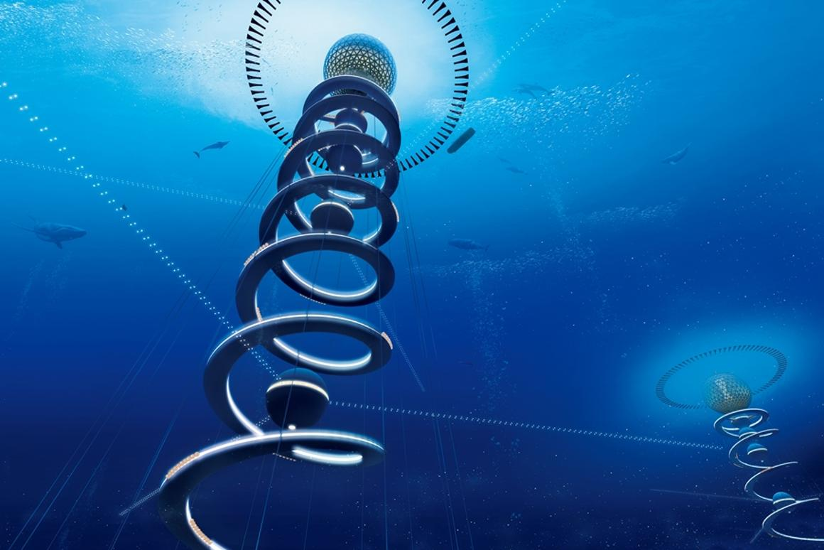 Ocean Spiral is an underwater city that seeks to harness the potential of the deep sea