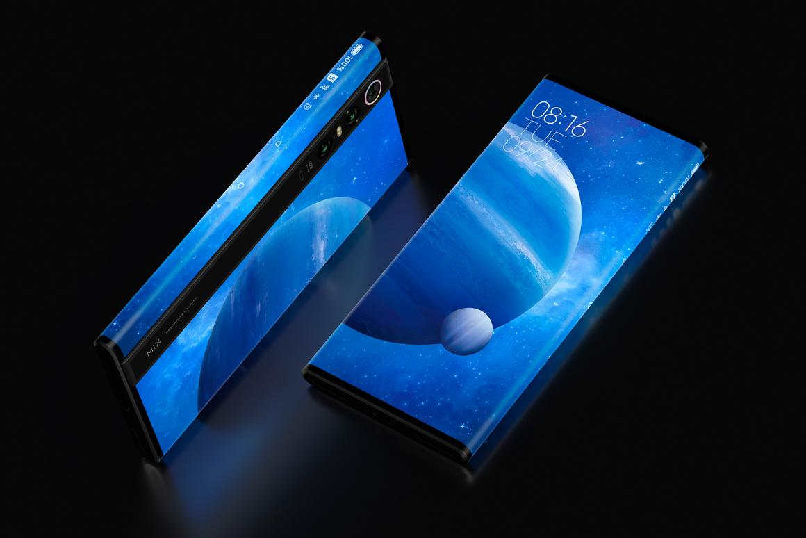 Xiaomi's Mi Mix Alpha has a screen-to-body ratio of 180 percent, wrapping around