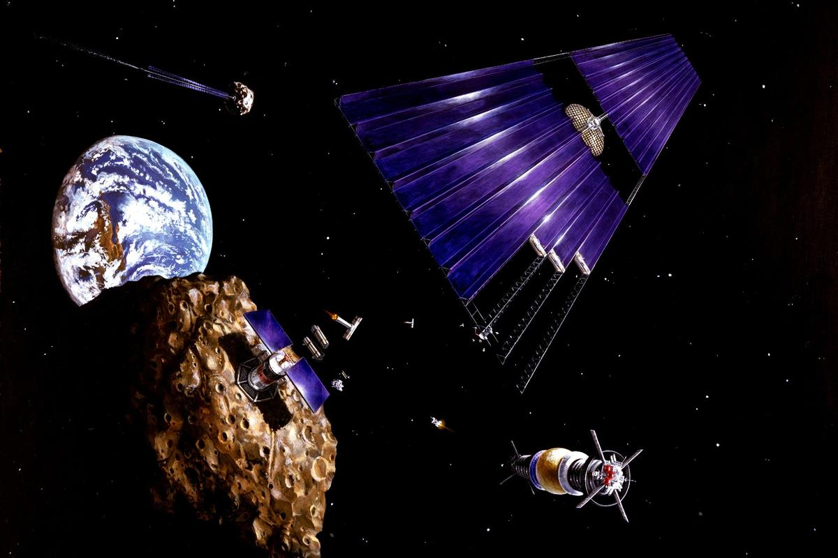 An asteroid mining operation of the future