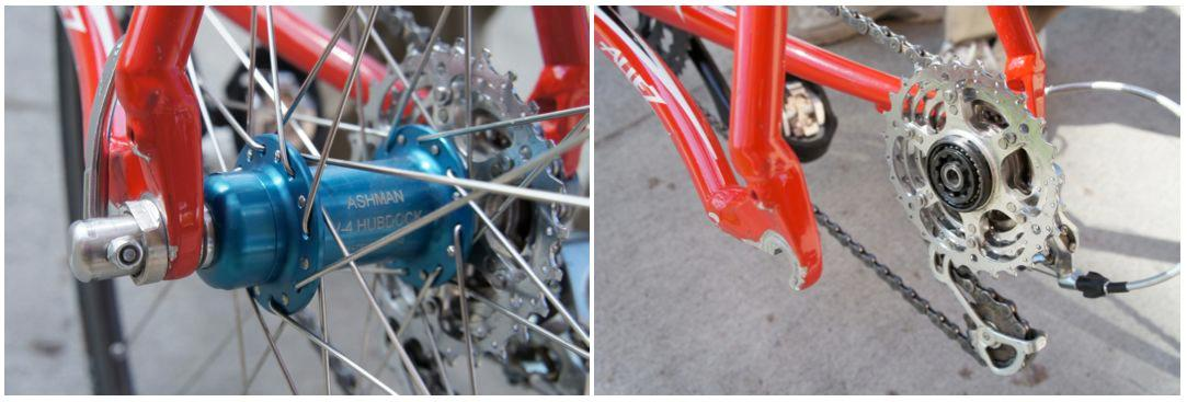 When the HubDock-equipped rear wheel is removed, the freehub and cassette remain attached to the frame