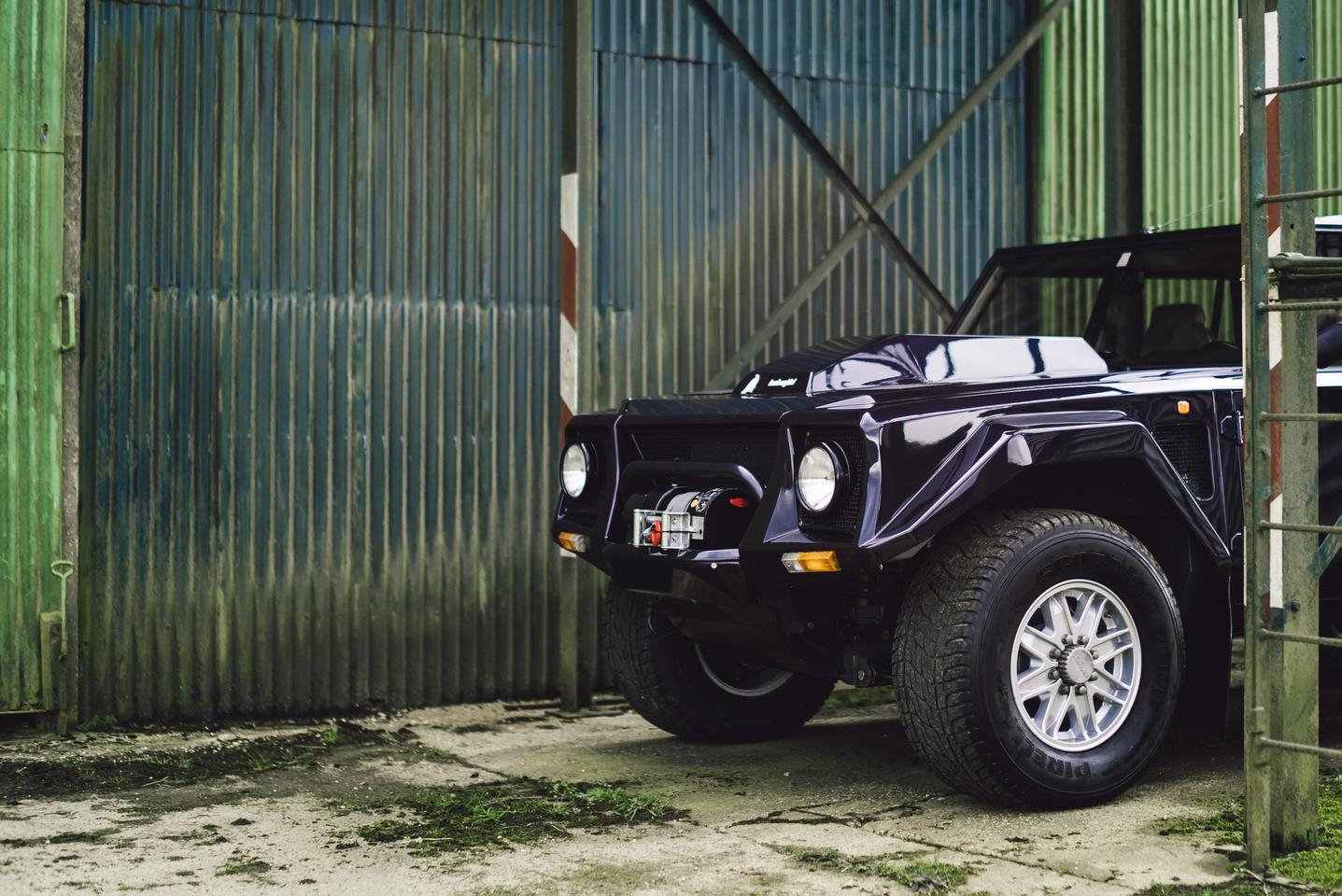 The Lamborghini LM002 slowly emerges after its 11-month restoration