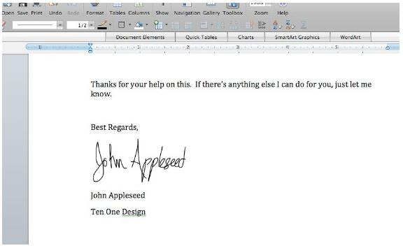 The Autograph for iPhone app lets you add your signature to electronic documents on your PC or Mac from your iPhone or iPod touch