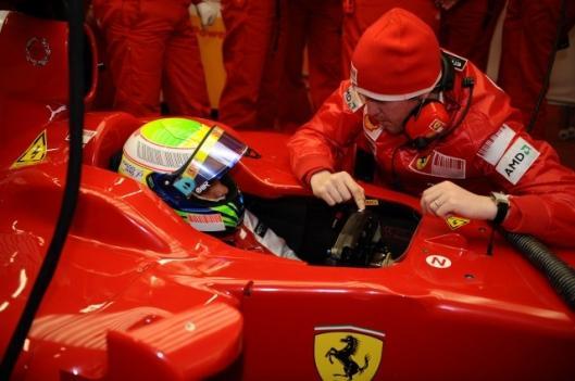 Felipe Massa in the pits - Ferrari will use KERS in Melbourne GP