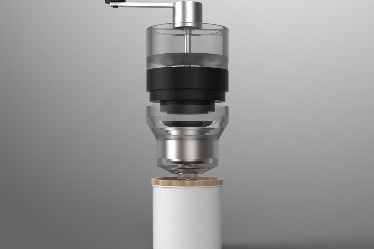 Fuse ultimately wants to develop a grinder for the top and foamer cup for the bottom