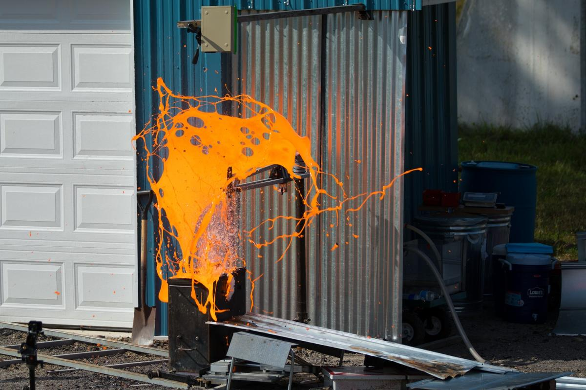 An explosive experiment with lab-made lava