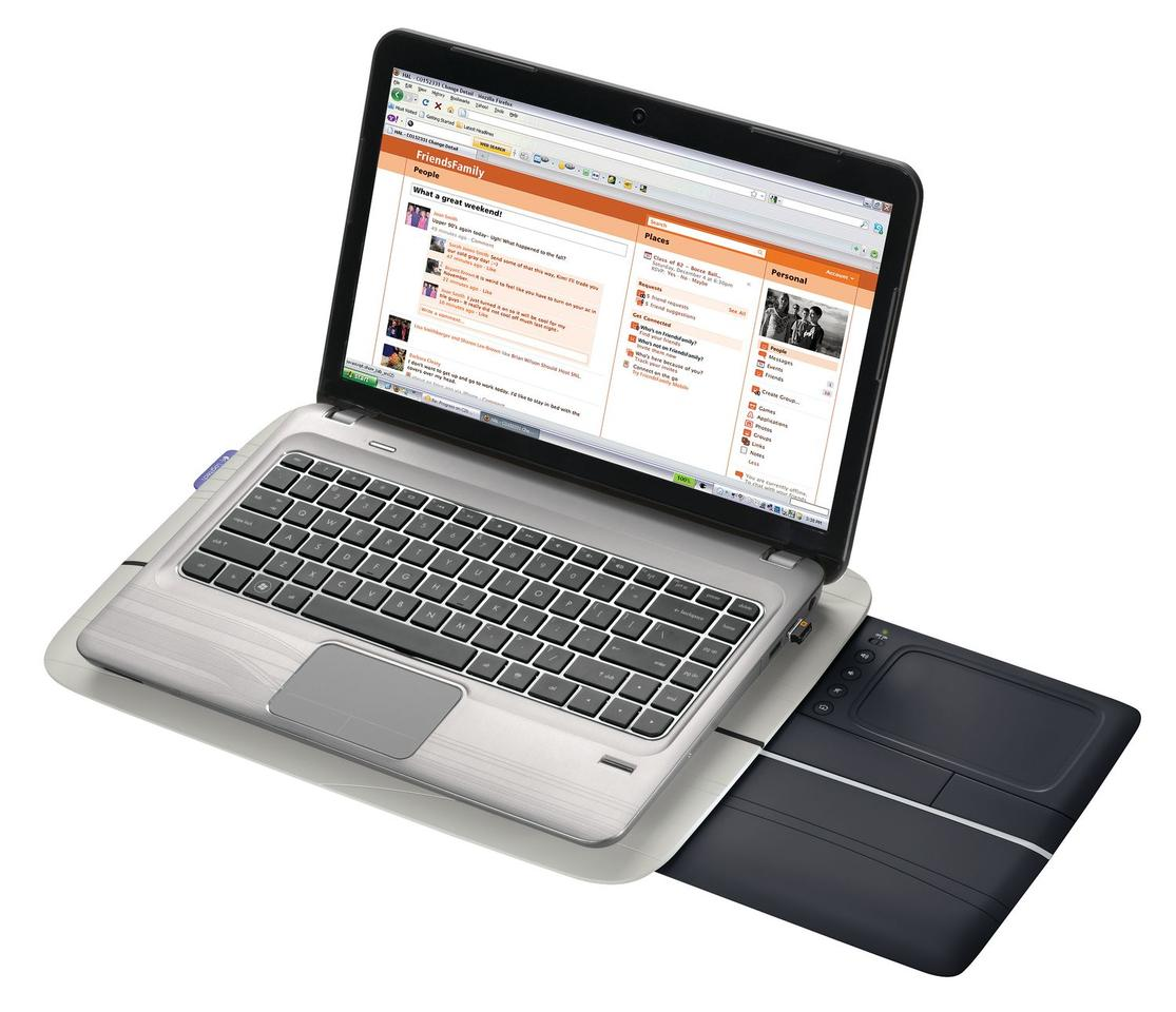 Logitech's Touch Lapdesk N600 with a 5-inch, retractable multi-touch surface