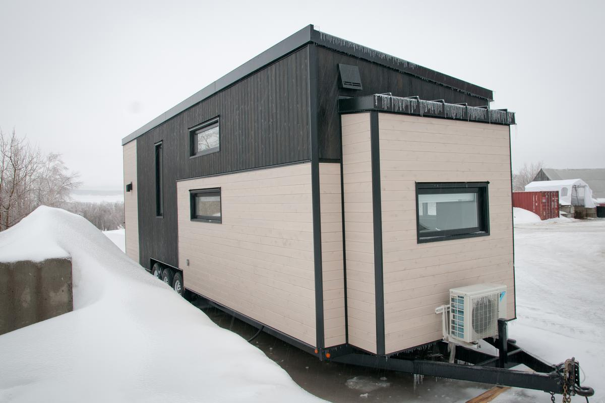 The Charme has been designed to withstand Canada's harsh winter weather and is home to a family of four