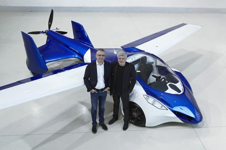 AeroMobil co-founders Stefan Klein (left) and Juraj Vaculik