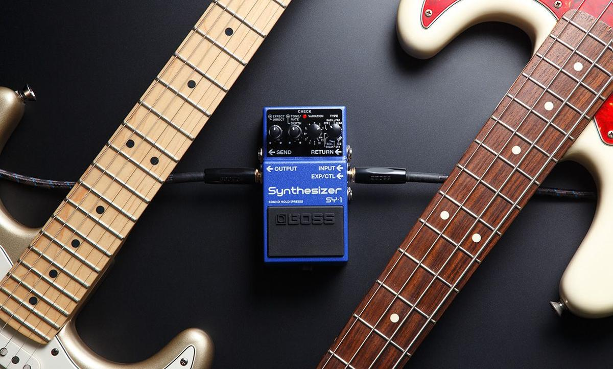 The Boss SY-1 Synthesizer pedal puts 121 synth sounds at a player's feet